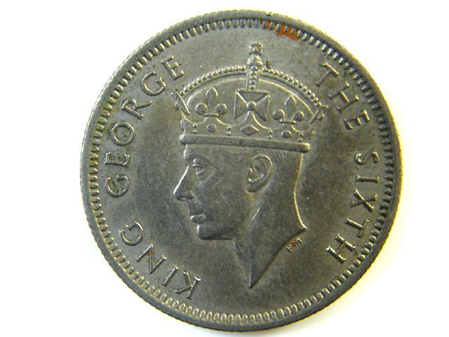 10 CENTS MALAYSIAN  COIN 1938  J 150