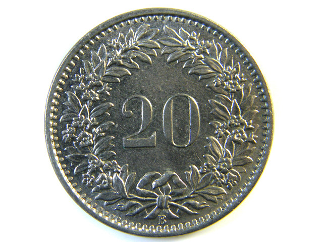 20 FRANC SWITZERLAND COIN 1967 J 152
