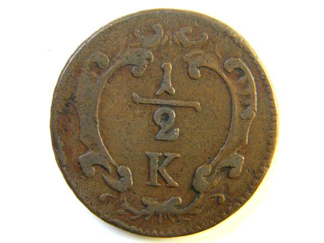1/2  K   AUSTRIAN COIN 1760?   J 193