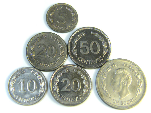 PARCEL  COINS ECUADOR 1946-1964  J 201