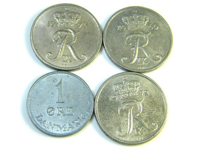 PARCEL 4 DENMARK COINS 1972  J 205