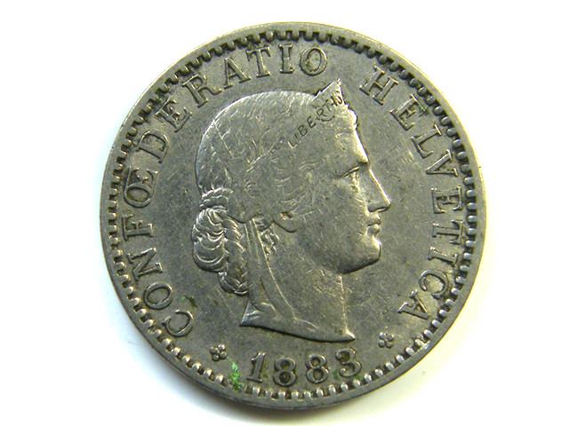 20 FRANCS SWITZERLAND 1863  J 232