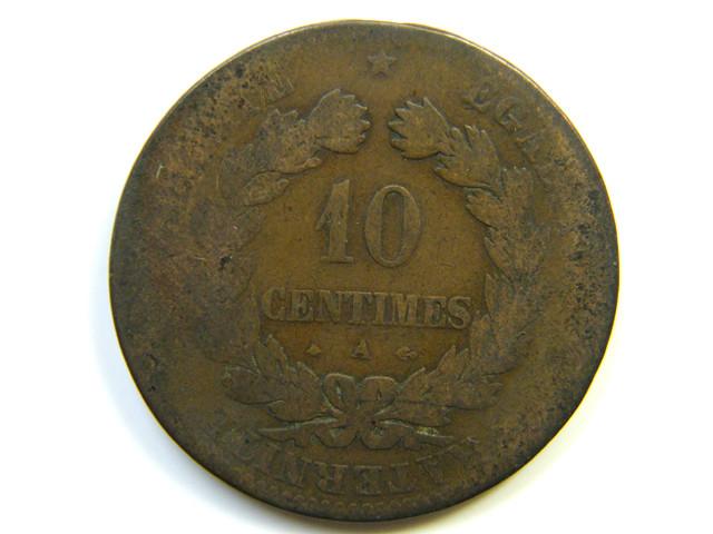 10 CENTIMES FRANCE 1876   J 861