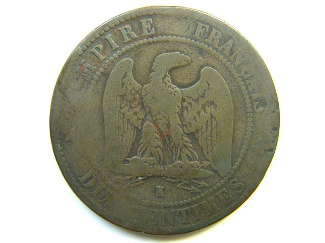 FARNCE NAPOLEON 1861  COIN J 254