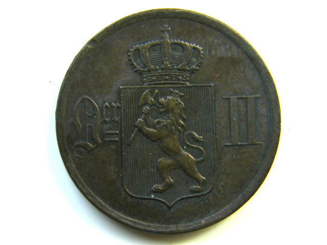 1 ORE NORWAY  1884 COIN J 260