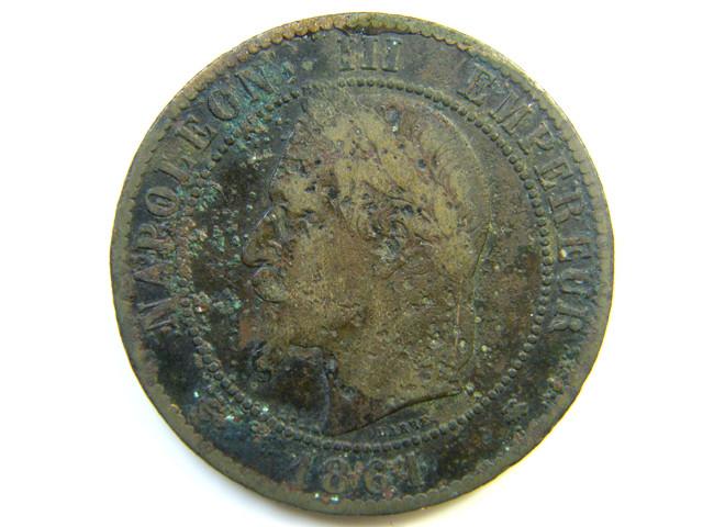 FRANCE 1861 COIN  J 261