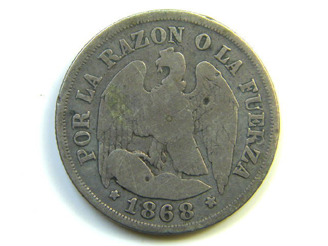 CHILE COIN 1868  J 264