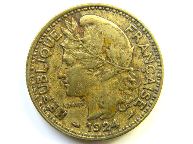 2 FRANCS 1924 CAMEROON COIN J 267