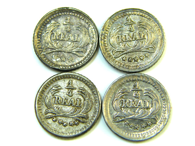 PARCEL FOUR 1/4 REALES 9 GUATEMALA   1890-1898  AC 365
