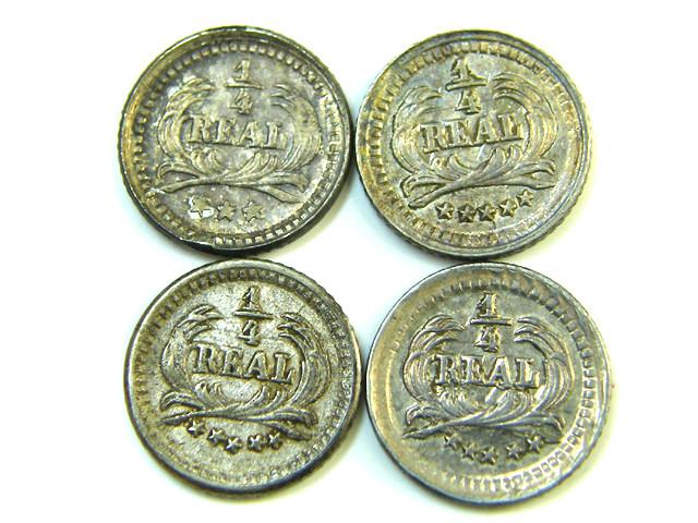 PARCEL FOUR 1/4 REALES 9 GUATEMALA   1890-1898  AC 365
