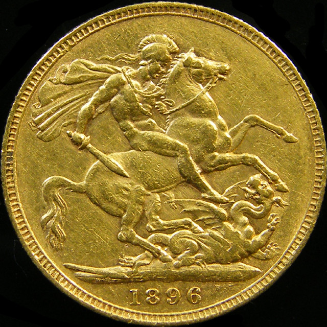 1896 QUEEN VICTORIA  FULL  GOLD SOVERIGN  CO 22