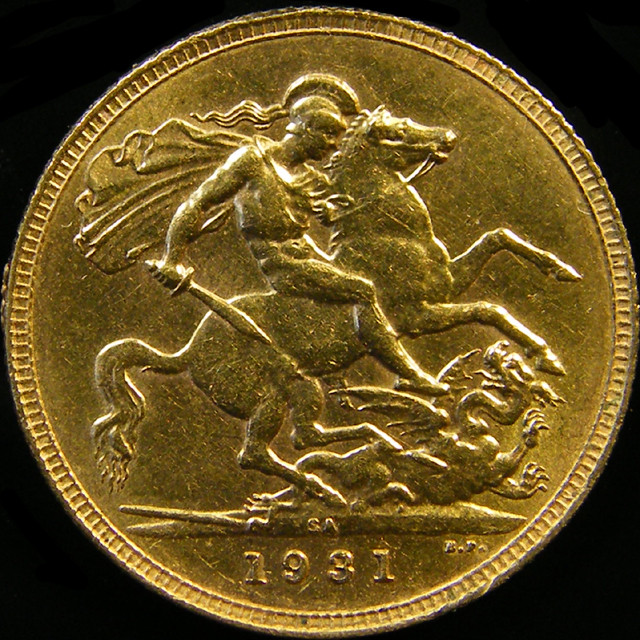 1931 M KING GEORGE V GOLD SOVERIGN 1 CO 19
