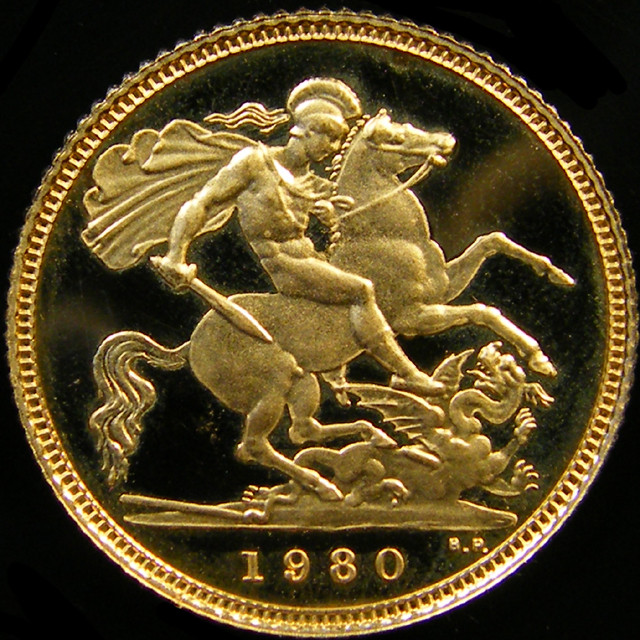 1980 QUEEN ELIZABETH HALF  GOLD SOVERIGN  CO 26