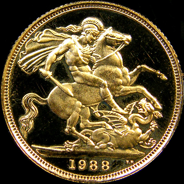 PROOF 1988 QUEEN ELIZABETH FULL  GOLD SOVERIGN  CO27