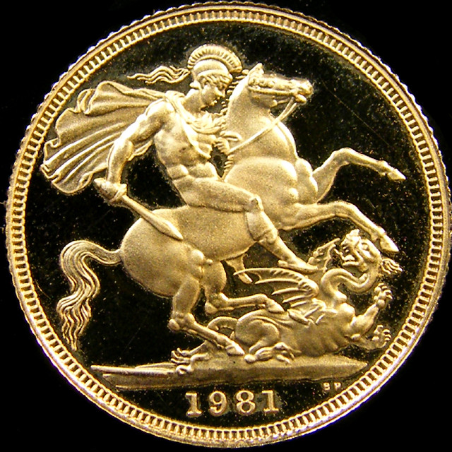 PROOF 1981 QUEEN ELIZABETH FULL  GOLD SOVERIGN  CO28