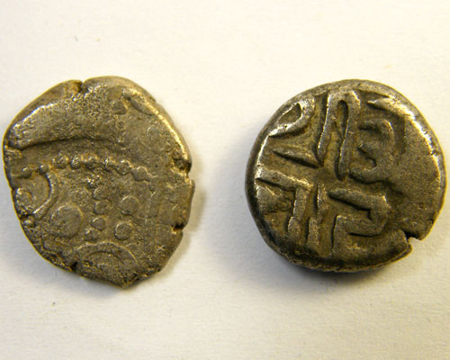 2 COINS INDIA CHAUHANS OF SAKHAMLARI  C 1120-20   OP198