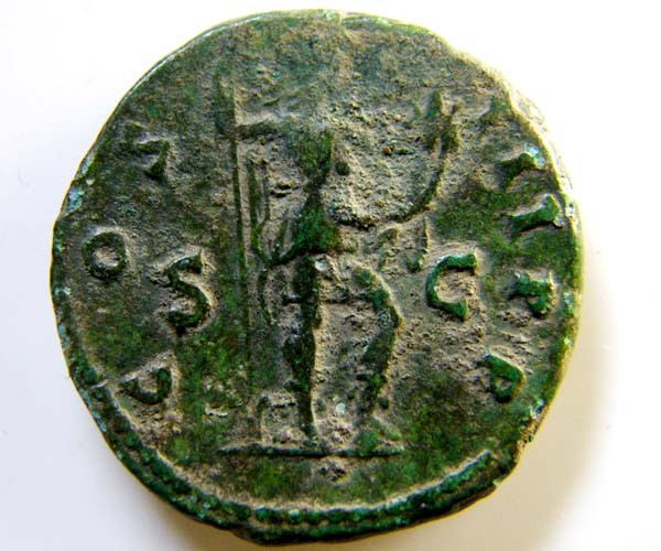 LARGE ROMAN PROVINCIAL COIN    HADRIAN    CODE  AC 29