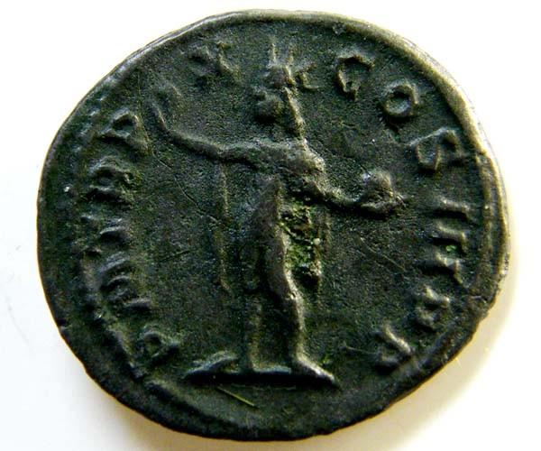 ROMAN PROVINCIAL COIN   SERVIUS ALEXANDER     CODE  AC 56