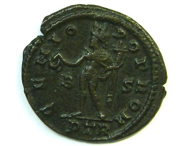 Licinius I. AE reduced follis. GENIO POP ROM. Trier 3  AC206