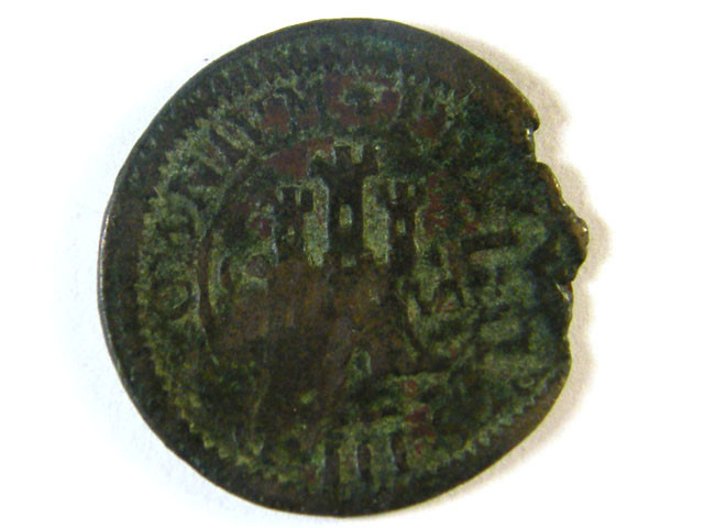 ANCIENT SPAIN L1, PHILIP III AE MARAVEDIS 1598-1621AD AC245