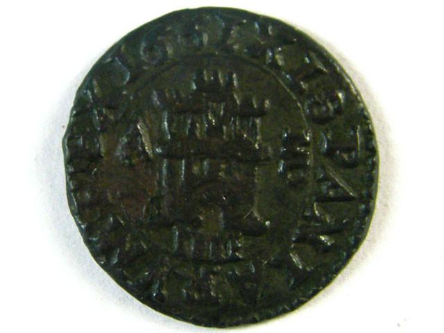 ANCIENT SPAIN L1, PHILIP IV 1621-1665 AE4 MARAVEDIS AC259