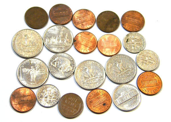 Parcel bulk lot us coins dimes cents Quarters   T 311