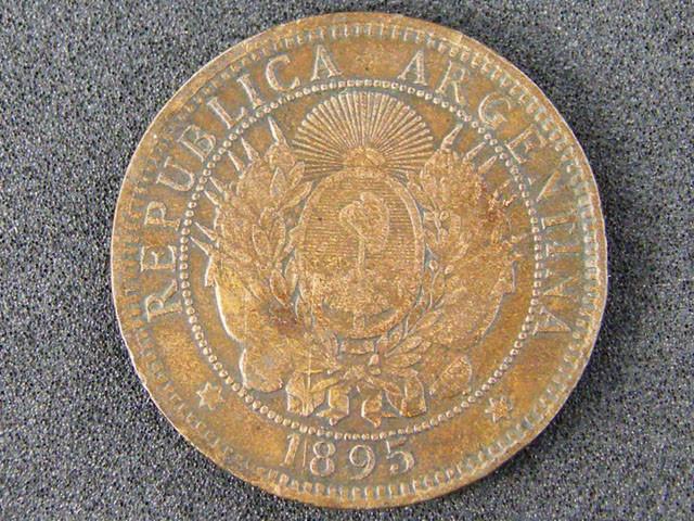 WORLD COINS ARGENTINIA 1895 CENTAVOS   T