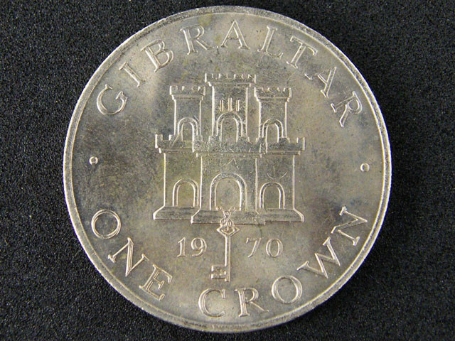 WORLD COINS GIBRALTAR 1970  ONE CROWN    T 328