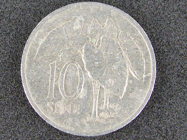 SAMOA COIN 1996 10 SENE