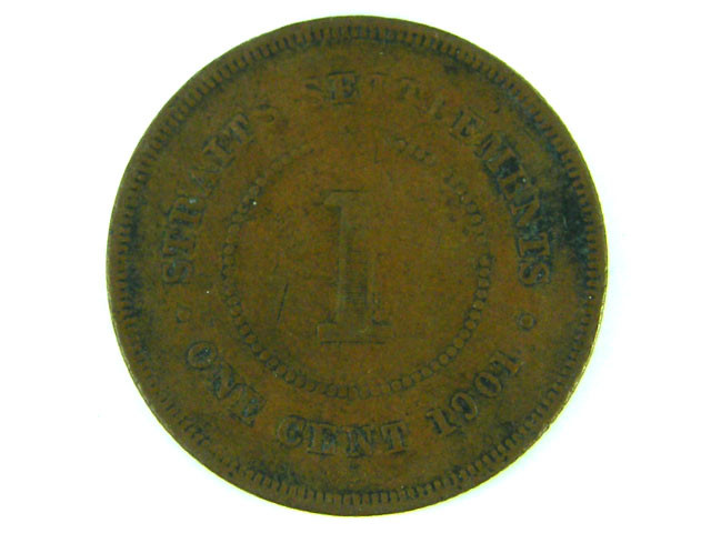 STRAITS SETTLEMENT 1901    ONE CENT  T  402