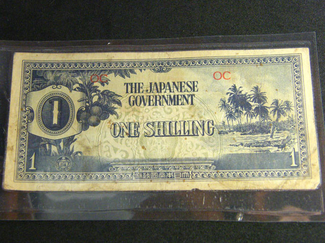 JAPANESE WAR YEARS ONE SHILLING   T 425