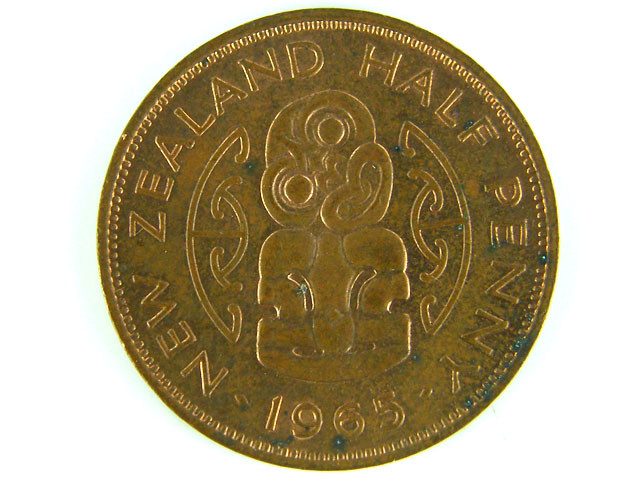 New Zealand 1965 Halfpenny (UNC                         T 45