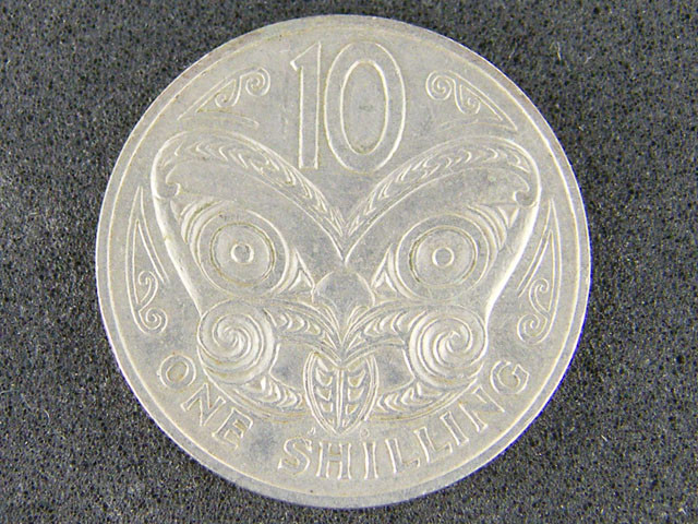 NEW ZEALAND ONE SHILLING 1967                        T 471