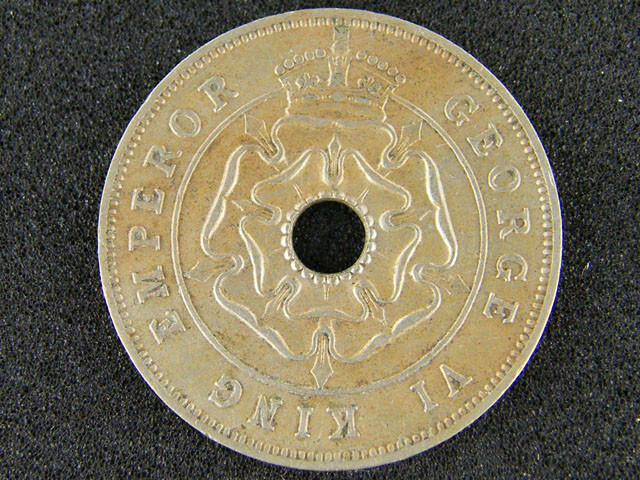 SOUTH RHODESIA 1938 PENNY VF  T 4                       T 45