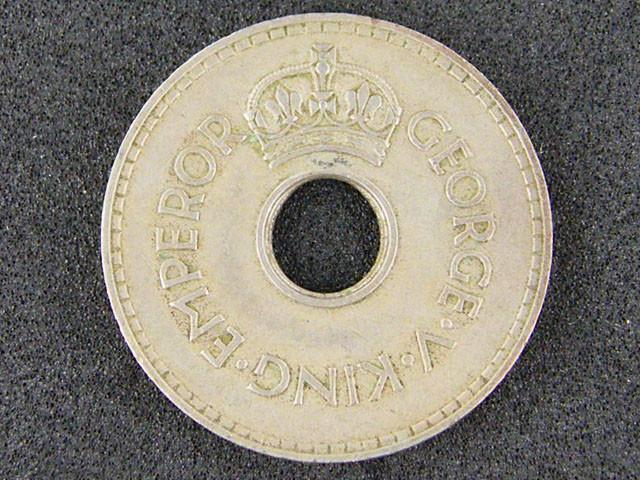 FIJI  ONE PENNY 1934    T 496