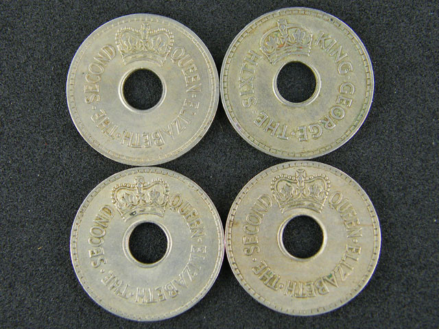 FIJI PARCEL LOT 4 1952 - 1965 ONE PENNY COINS      T501
