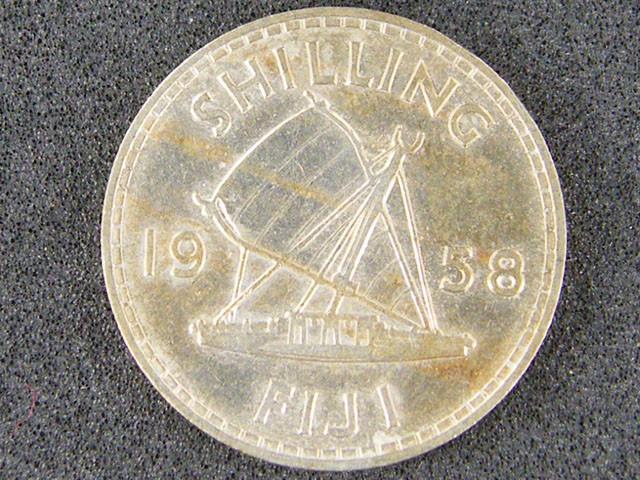 FIJI OT 1 ONE 1958 SHILLING COIN         T502