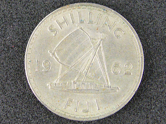 FIJI LOT 1, 1962 SHILLING COIN T514