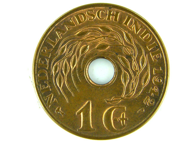 NETHERLAND EAST INDIES LOT 1 ONE CENT 1942 COIN T521