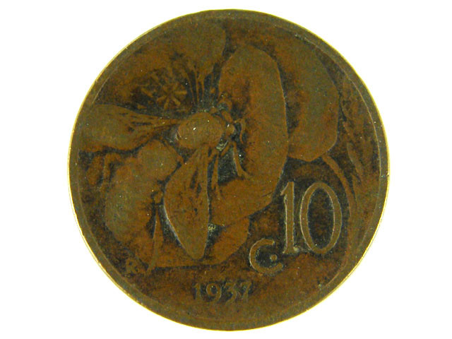 ITALY LOT 1,  TEN CENT 1937 COIN T541