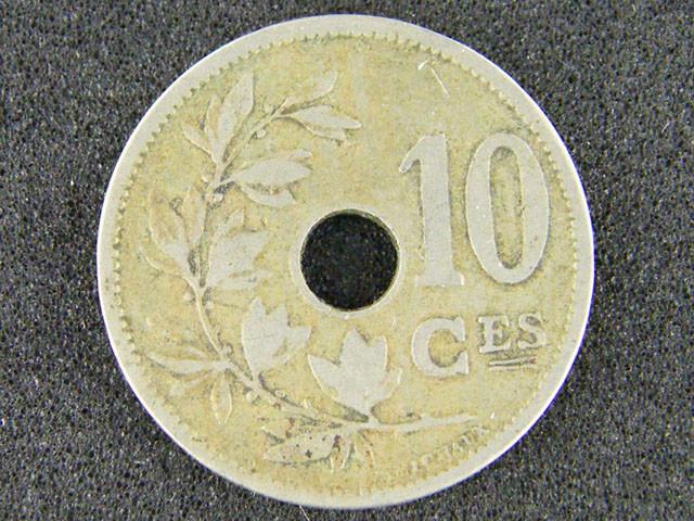 BELGIUM LOT 1, 1904 TEN CENT COIN T558