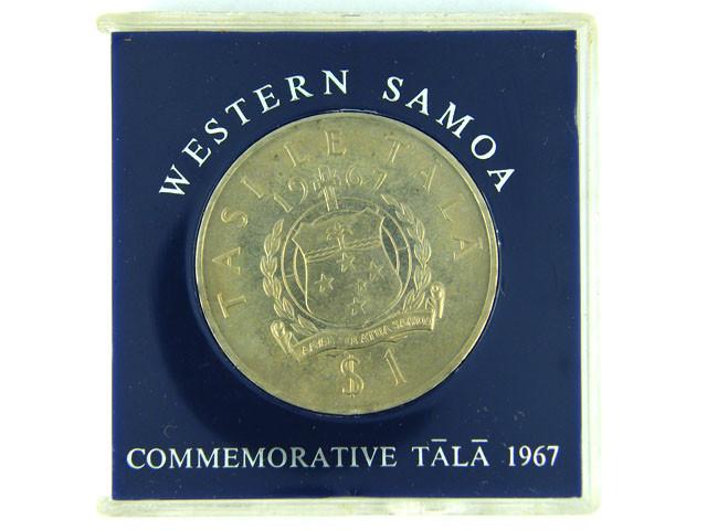 COMMEMORATIVE CROWN LOT 1, WESTERN SAMOA 1967 COIN T562