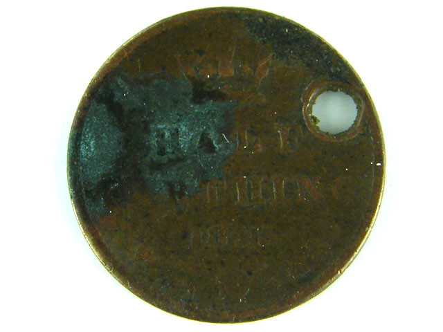GREAT BRITIAN LOT 1, HALF FARTHING 1843 COIN T569