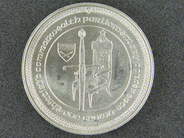 GREAT BRITIAN LOT 1, 1984 ONE CROWN PARLIMENT COIN T572