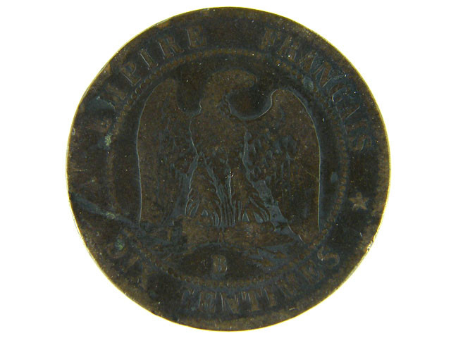 FRANCE LOT 1, DIX CENT 1856 COIN T585