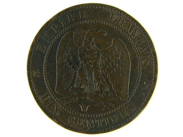 FRANCE LOT 1, DIX CENT 1856 COIN T599