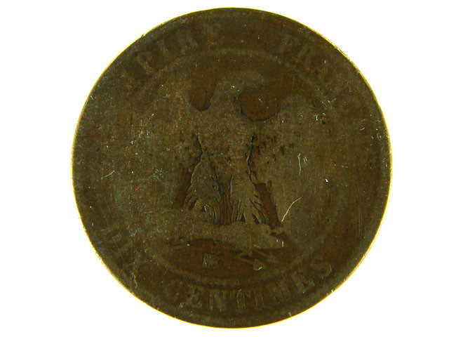 FRANCE LOT 1, DIX CENT 1864 COIN T603