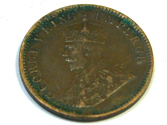 BRITISH EMPIRE INDIA LOT 1, ONE QUARTER ANNA 1920 COIN T685