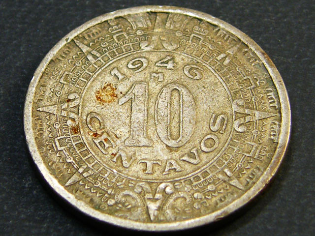 MEXICO LOT 1, TEN CENTAVOS 1946 COIN T612