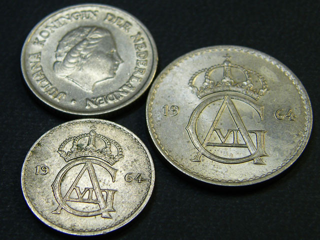 SWEDEN LOT 3, 25c , 50 ORE, 25 ORE COIN T620